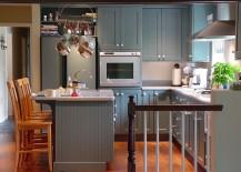 Small kitchen idea in gray