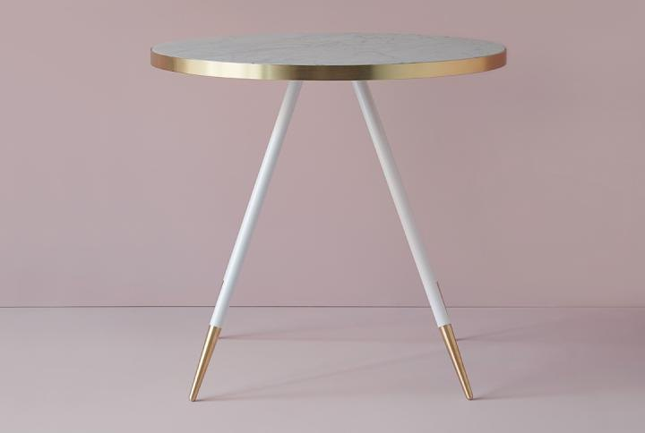 Small marble dining table from Bethan Gray