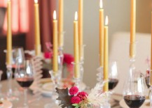 Small table with candles featured at Camille Styles
