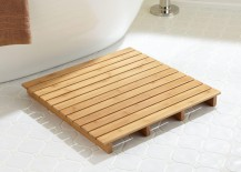 Small teak bath mat
