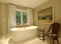 Spa master bathroom with a cozy ambiance