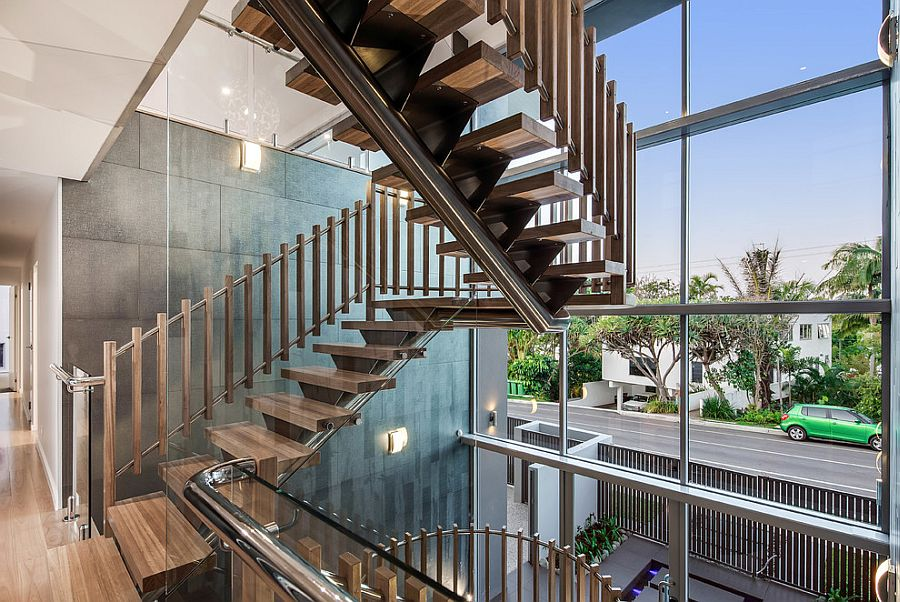 Spectacular contemporary staircase in wood [From: DCM Building Design & Drafting]