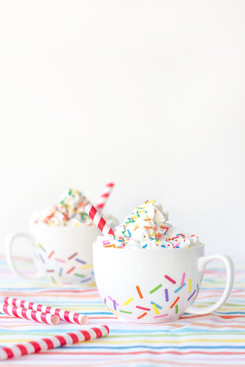 Sprinkle mugs from Studio DIY