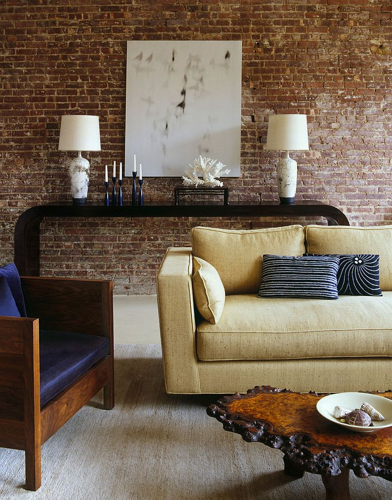 Styling a living room with brick walls [Design: Amy Lau Design]