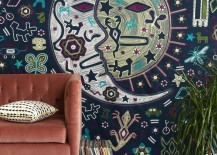 Sun and moon tapestry from Urban Outfitters 217x155 Modern Style Meets the Stars, Sun and Moon