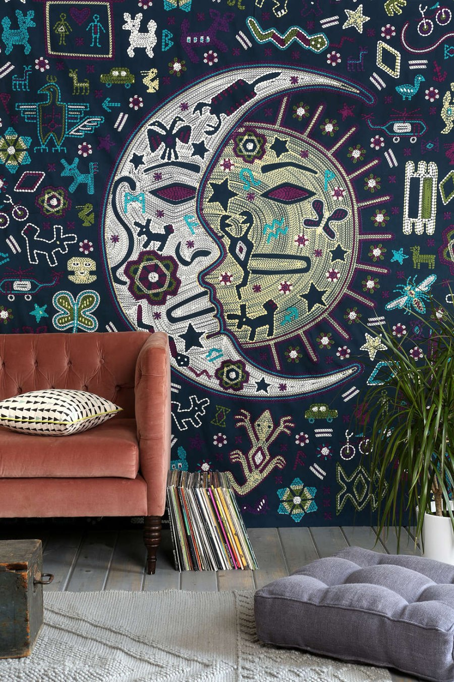 Sun and moon tapestry from Urban Outfitters
