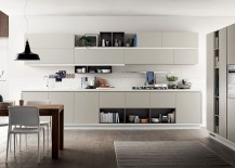 Tall wall units ane recessed grips give the Foodshelf a stunning look
