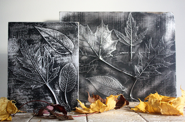 This craft project creates a fossilized look of your leaves