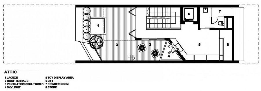 Top level floor plan - House at Poh Huat Road