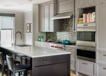 Transitional-kitchen-with-traditional-cabinets-in-gray-217x155