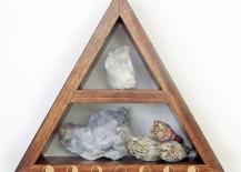 Triangular moon phase shelf from Etsy shop Fjallrav Paper Co.