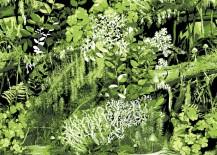 Trollskogen tapetti vihreä Vallila Interior