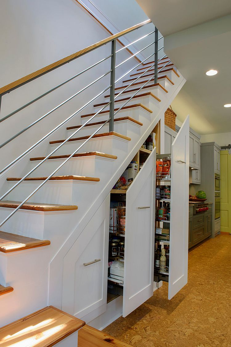 ... Turn The Space Under The Stairs Into A Fabulous Pantry [From: HINGE  Cabinetry U0026