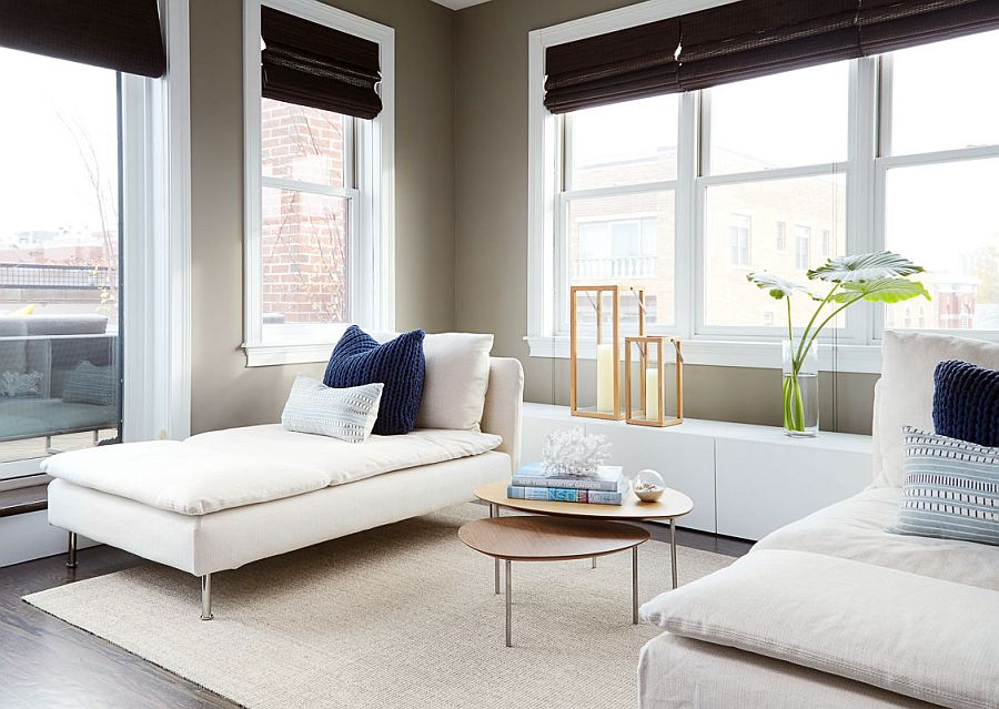 Twin chaise lounges create a comforting and tranquil ambiance indoors