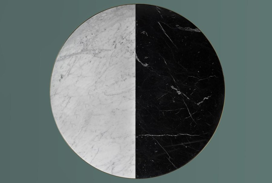 Two-toned marble dining table from Bethan Gray