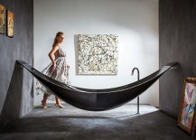 Uber luxurious design of the Vessel combines elegance of Hammock with carbon fiber body 217x155 Dark Indulgence: 18 Black Bathtubs for a Stylish, Dashing Bathroom!
