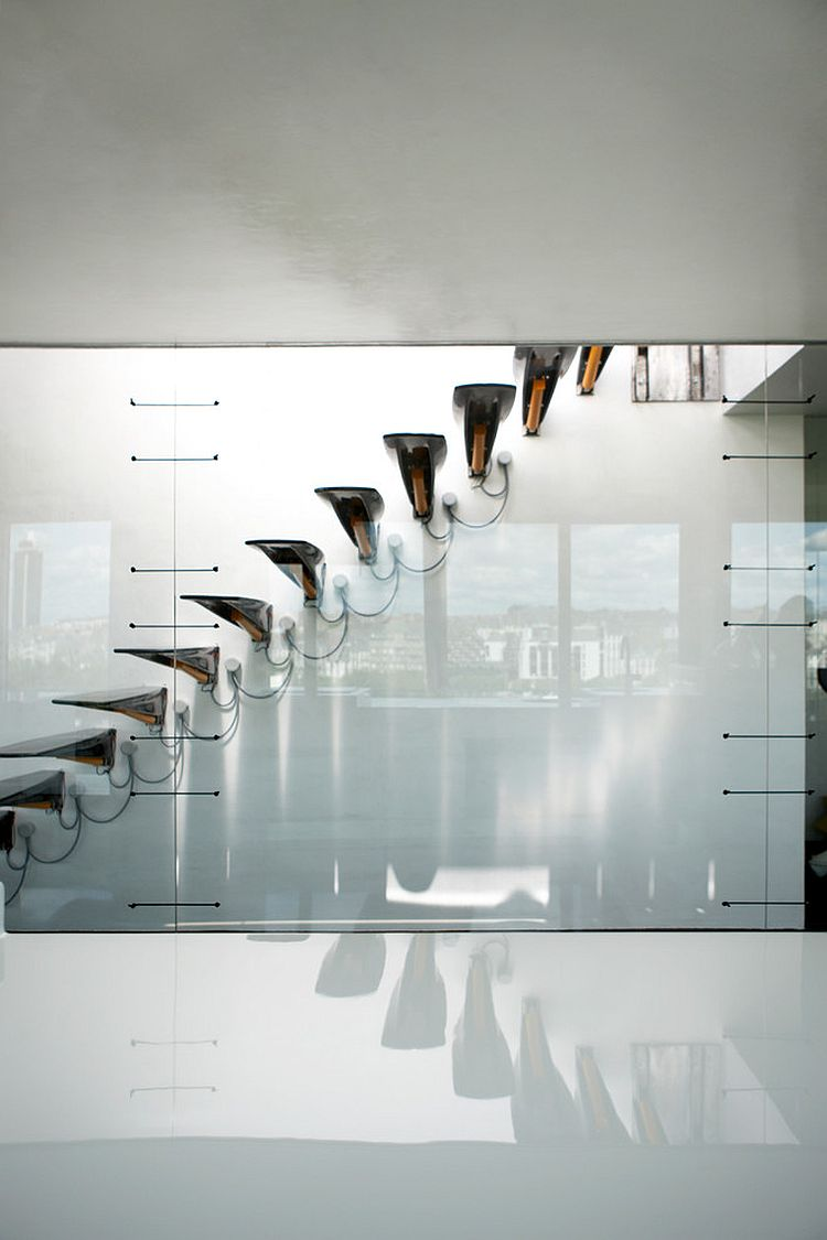 ... Ultra Sleek And Minimal Staircase For The Posh, Contemporary Home  [Design: Avignon