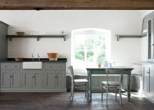 Unassuming-kitchen-with-gray-cabinets-and-a-whitewashed-brick-wall-217x155