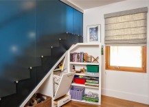 Under stairs storage that disappears when not needed