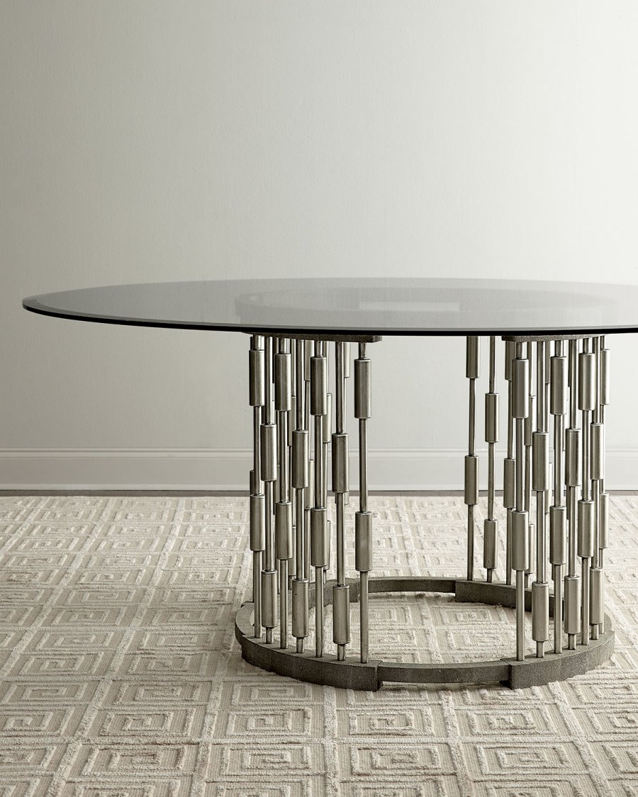 View In Gallery Unique Round Dining Table From Horchow Part 6