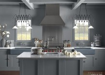 Vintage accents coupled with modern aesthetics in the cool Kohler kitchen