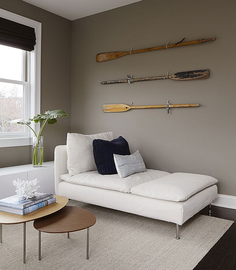 Vintage, modern and custom decor and accessories combined inside the smart Chicago townhouse