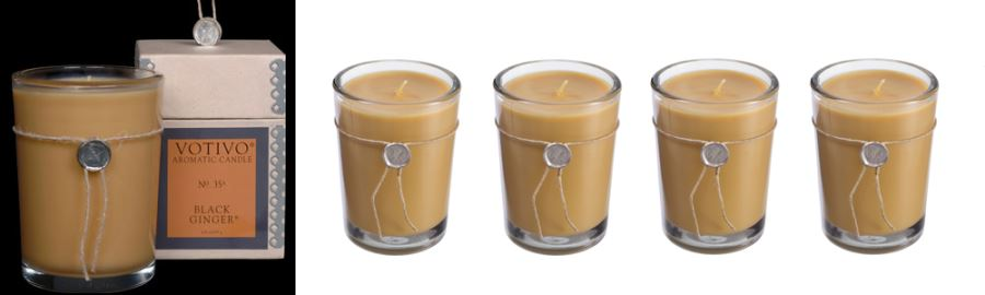 Votivo candles in glass containers