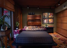 Warm and cozy Zen bedroom moves away from the stereotypes!