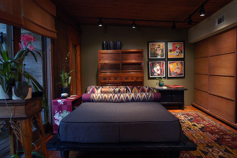 Warm and cozy Zen bedroom moves away from the stereotypes! [Design: Terri Weinstein Design]