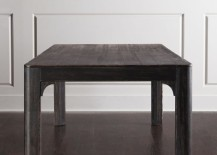Weathered clean-lined dining table from Horchow