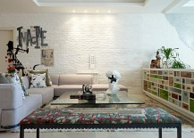 White brick wall is a favorite among contemporary homeowners looking for textural contrast