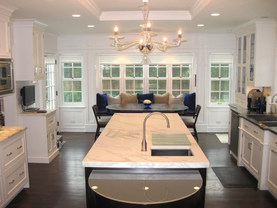 View In Gallery White Recessed Ceiling In A White Kitchen
