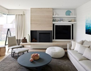 Relaxing Beach House Energizes Classic Color Palette with a Tasteful Twist