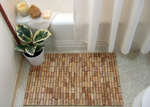 Wine cork bath mat 217x155 7 Bath Mat Ideas to Make Your Bathroom Feel More Like a Spa