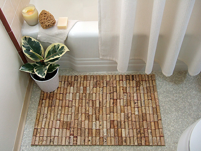 View In Gallery Wine Cork Bath Mat