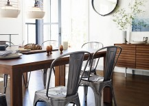 Wooden table and metal chairs from Design Within Reach