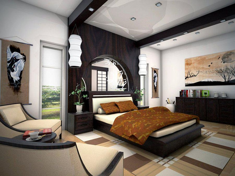 Zen bedroom combines style, comfort and tranquility