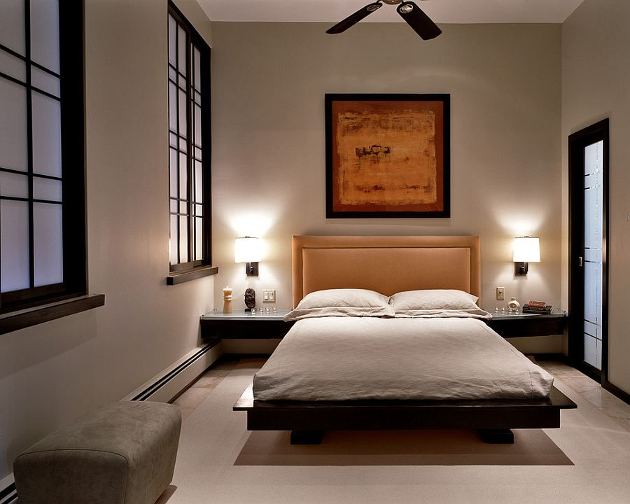 20 serenely stylish modern zen bedrooms for Modern bedroom decor