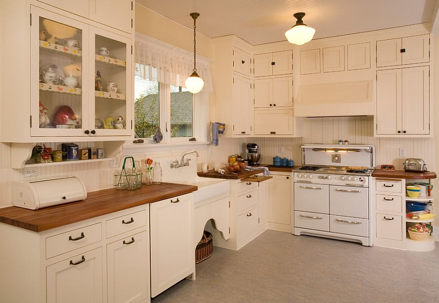1920's style kitchen with modern ergonomics [Design: Sadro Design Studio / Northlight Photography]