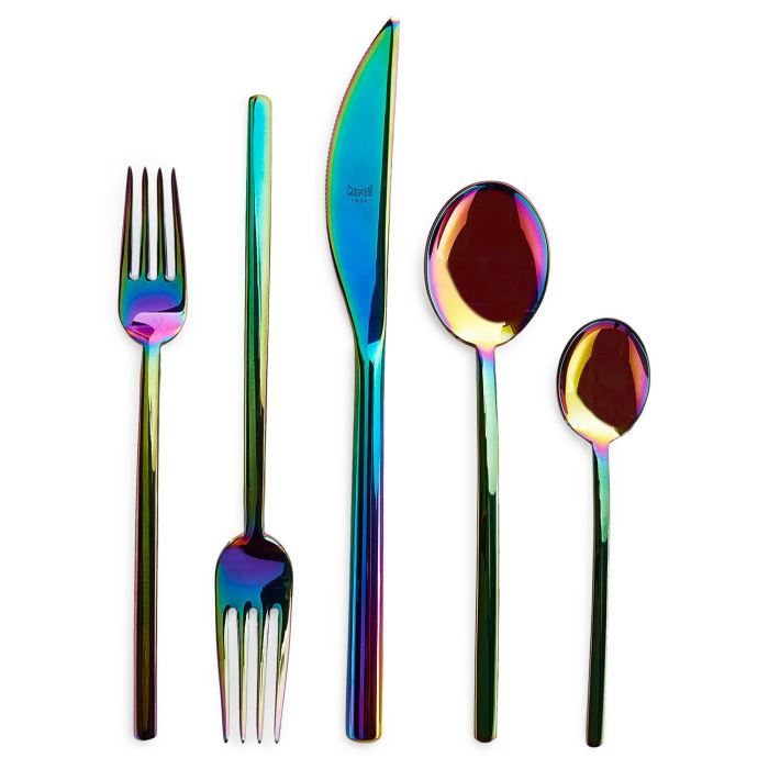 5-piece Mepra iridescent flatware from ABC Home