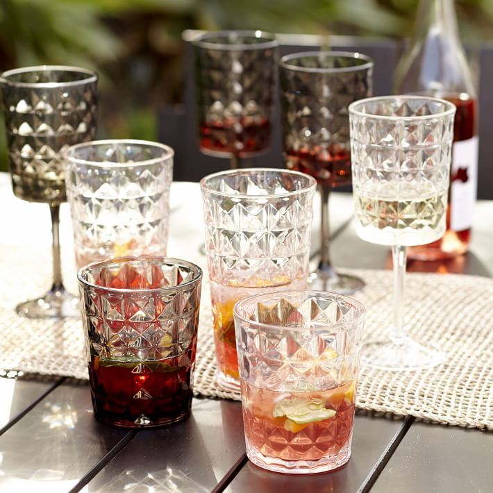 Acrylic drinware from West Elm