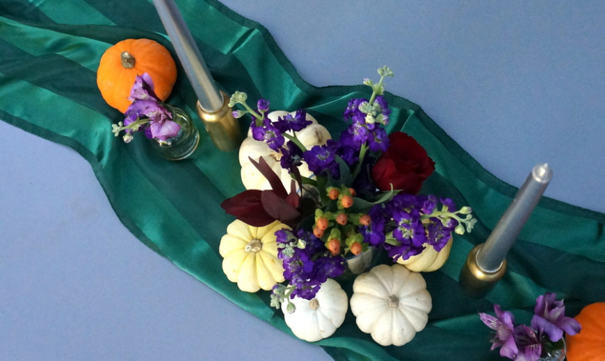 Make This Easy Thanksgiving Floral Centerpiece