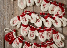 Advent calendar garland from West Elm