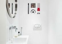 All-white small bathroom design