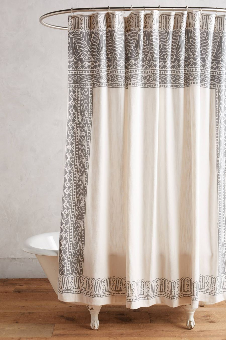 Anthropologie shower curtain with Art Noveau flair
