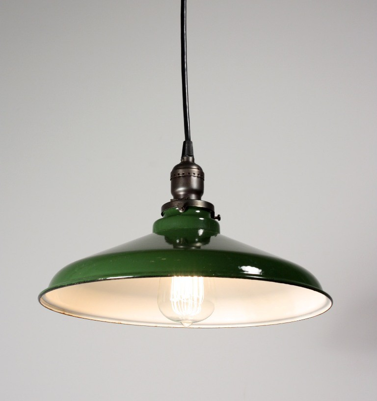 Old Industrial Pendant Light: 20 Porcelain Pendant Light Treasures