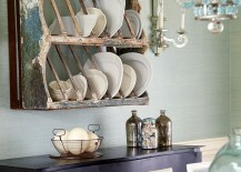 Antique plate holder for the shabby chic interior [Design: Jules Duffy Designs]