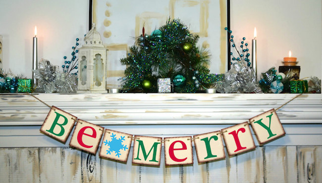 Be Merry banner for the holidays