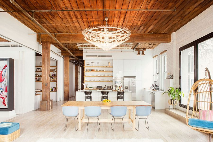 Beautiful chef's kitchen adds to the appeal of the exqusite loft home