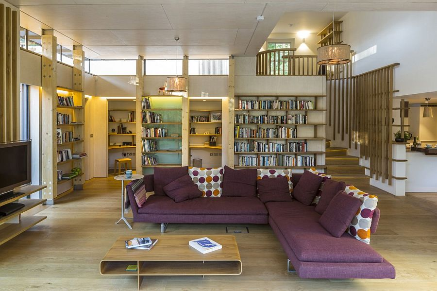 Beautiful living area of House in Hampstead with a smart, modern vibe